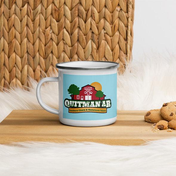 Quitman Blue Enamel Mug