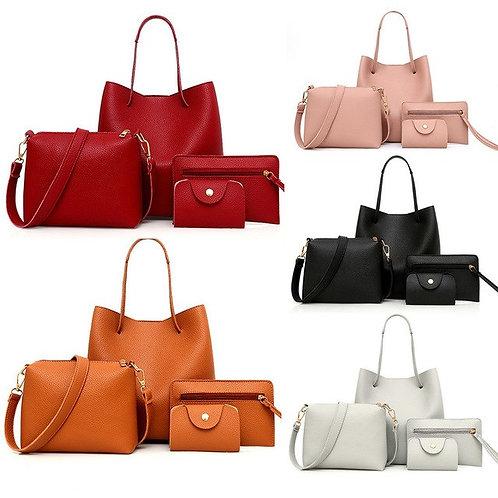 4Pcs bags for Women unique Pattern Leather