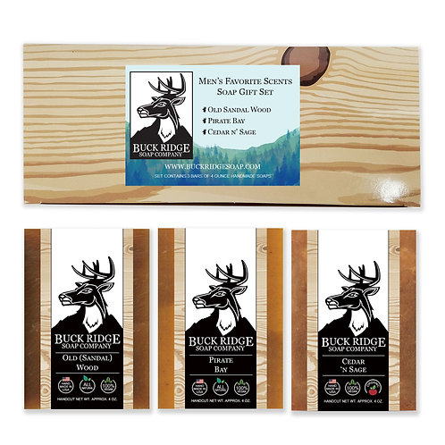 Men's Favorite Scents Gift Set Handmade Soap