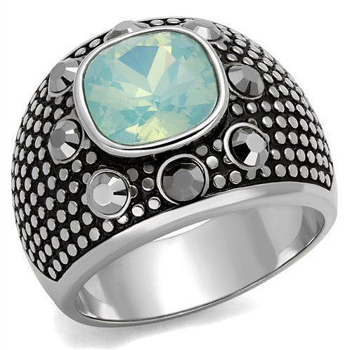 Men Stainless Steel Synthetic Crystal Rings TK2223
