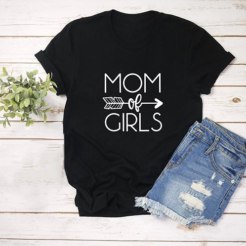 Mom of Girls Arrow Tee