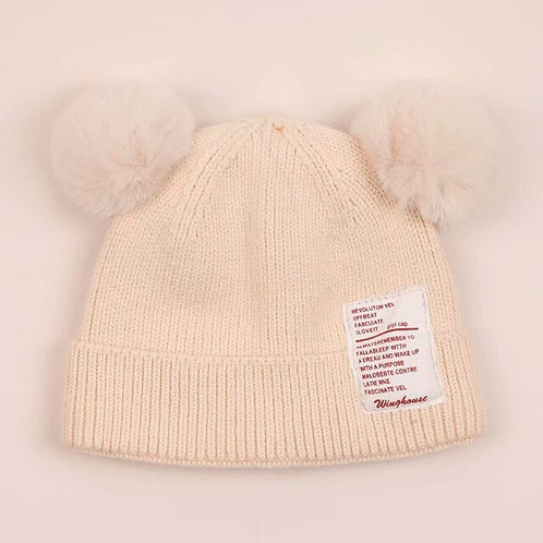 Baby Boy Girl Hat Cute Bear Furry Balls Pompom