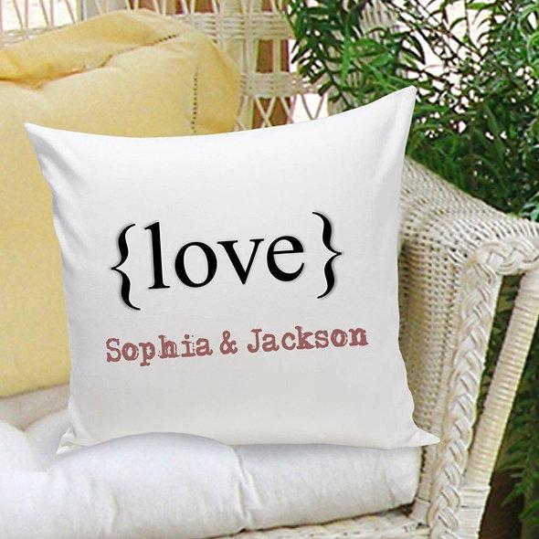 Couples Love Throw Pillow
