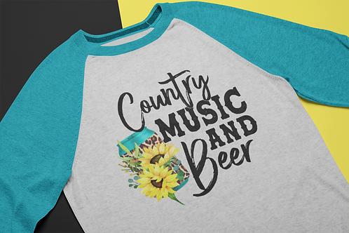 Country Music Raglan Tee