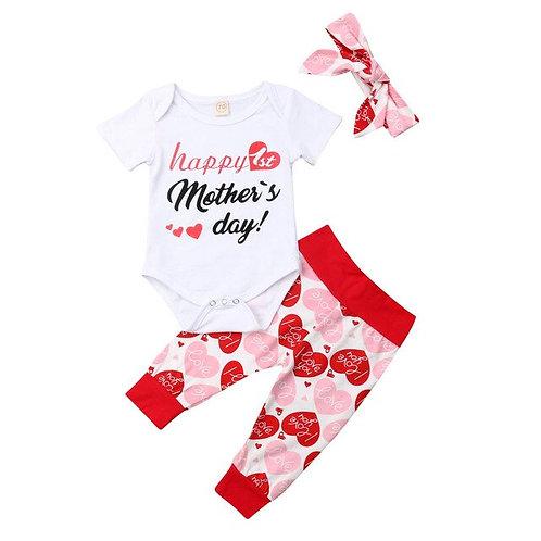 Fashion Summer 3pcs Baby Toddler Girl