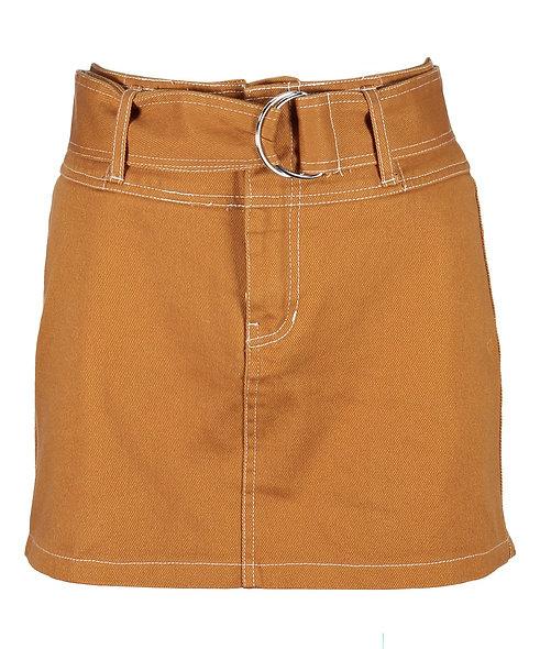 Urban Diction Mustard Yellow Mini Skirt
