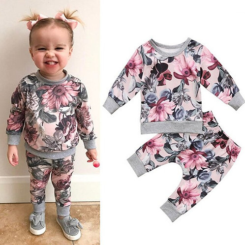 2PCS Girl Fall Clothes Newborn Baby Girls Coat