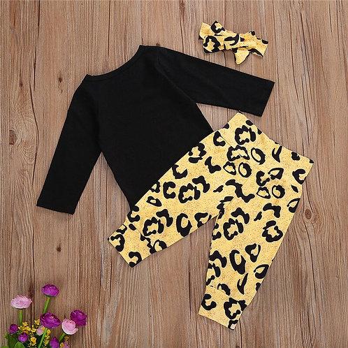 3pc Infant Leopard Set