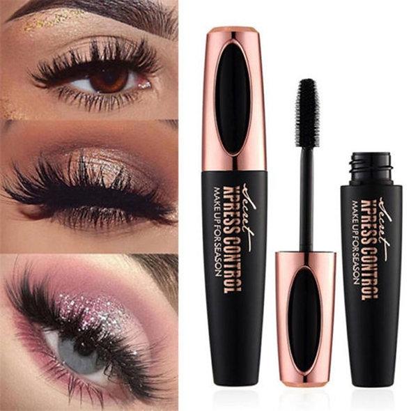 Eyelash Mascara 4D Silk Fiber Long Curling Black