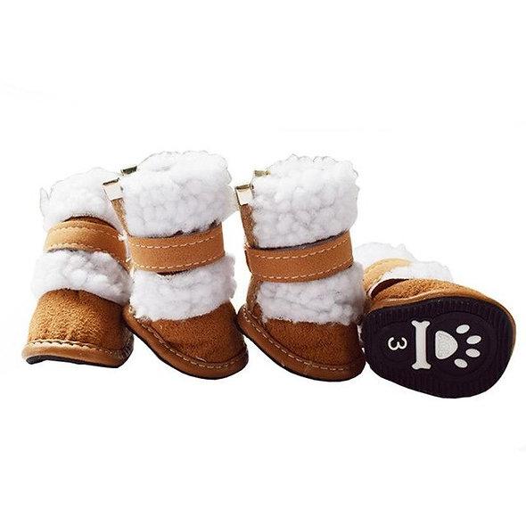 4pcs Set Winter pet dog Snow Boots puppy snowy