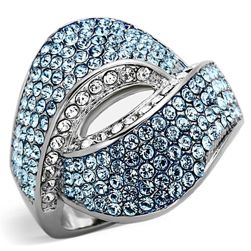Women Stainless Steel Synthetic Crystal Rings