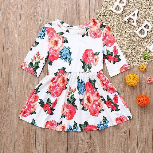 Fashion Mom&Me Baby Girls summer Dress Three