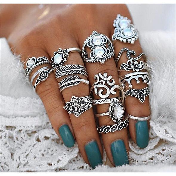 16pc Vintage Ring Set