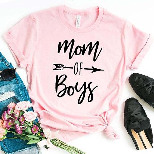 Mom of Boys Arrow Tee