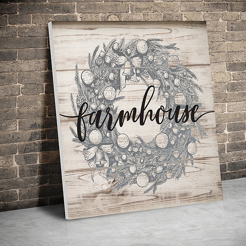 Farmhouse Wreath Canvas
