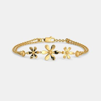 Golden Floral Bracelet