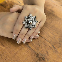 Silver Oxidized Ring