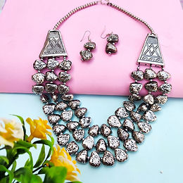 Naaz Silver Beads Necklace