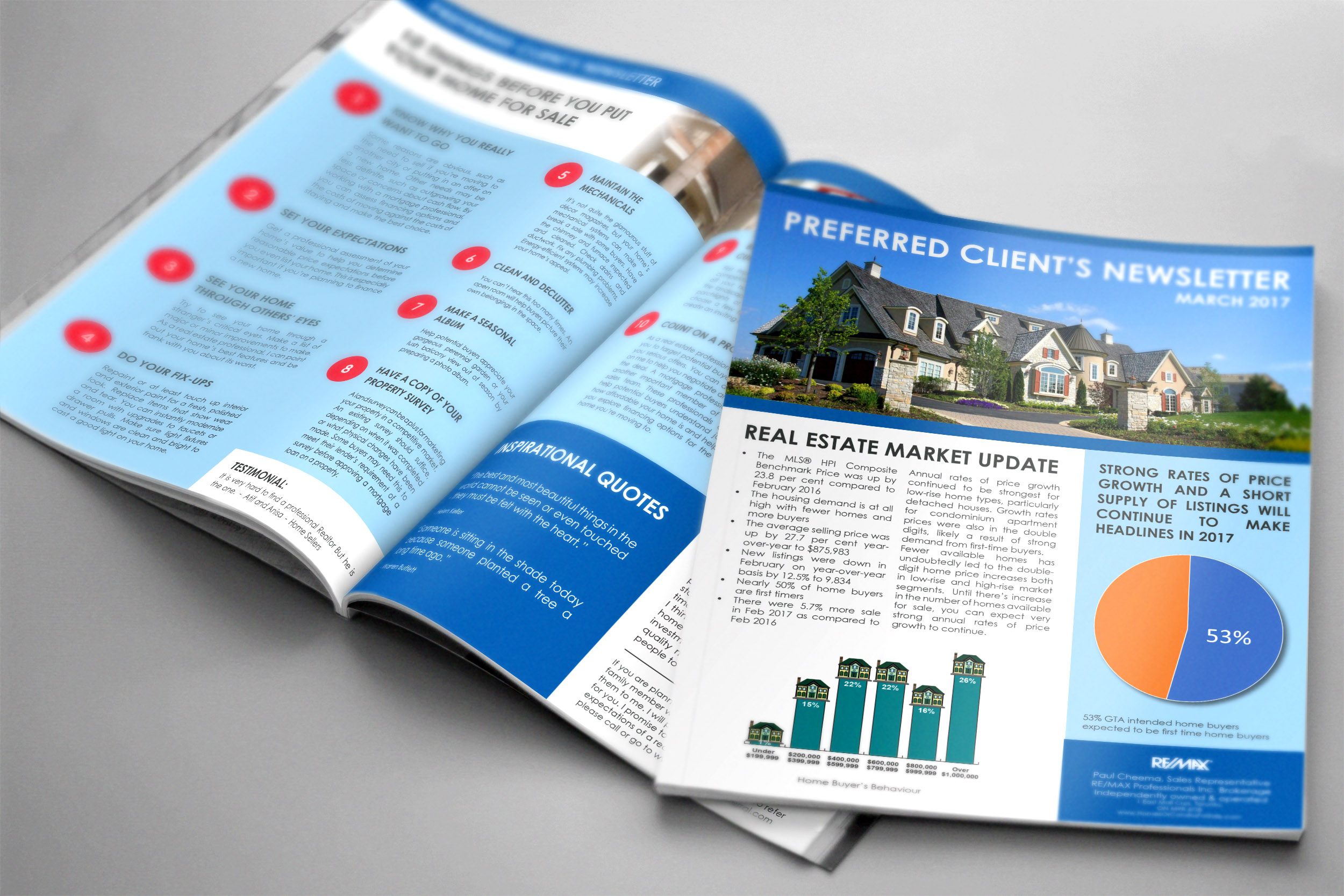 Newsletter Brochure Real Estate