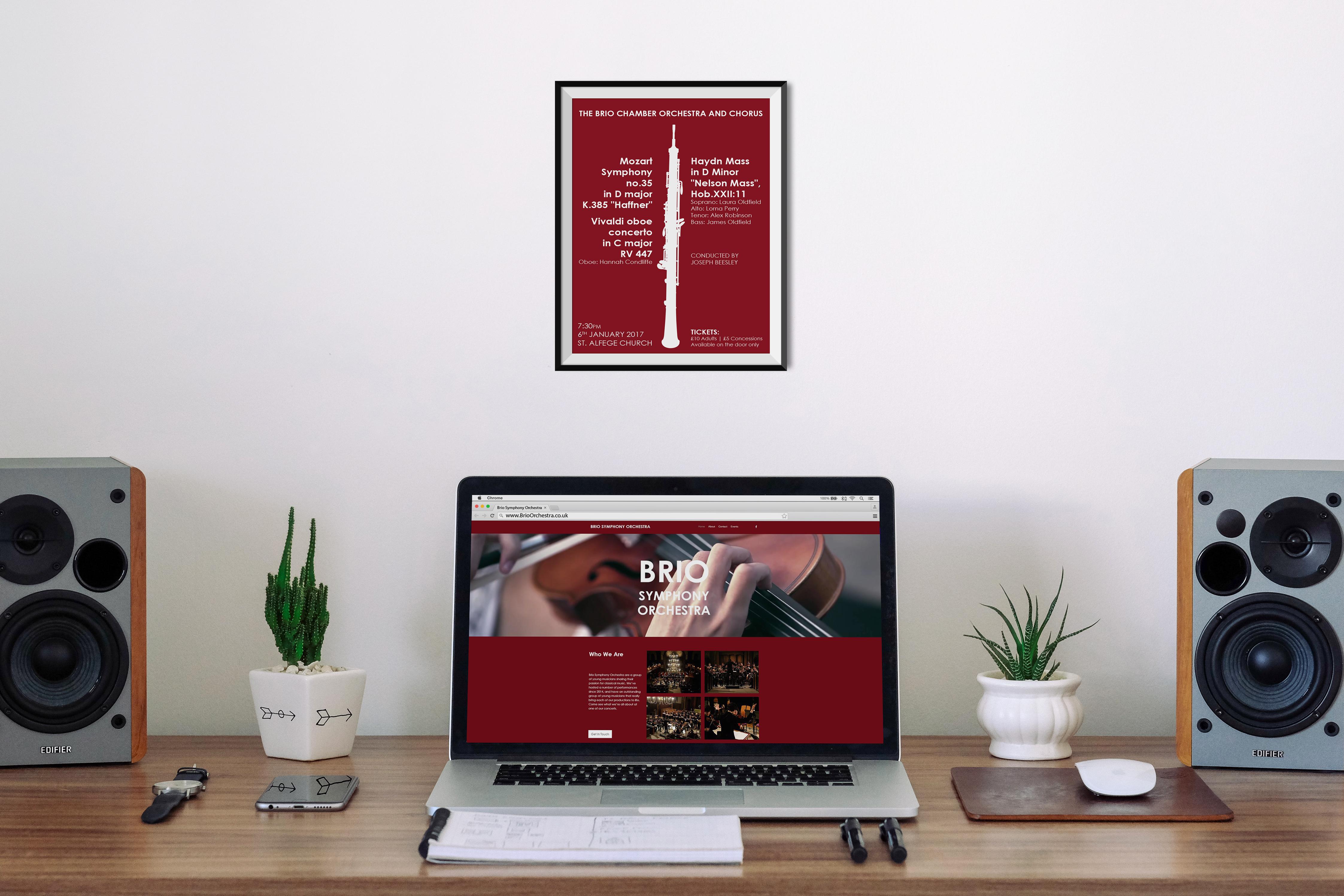 Brio Orchestra Poster & Website
