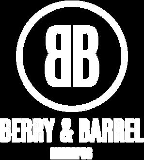 Berry & Barrel Micropub Logo A - White-0