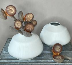 Keramik Vase weiss
