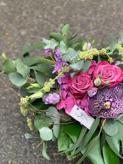 Strauss lila mit Orchidee