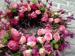 Trauerkranz aus Rosen