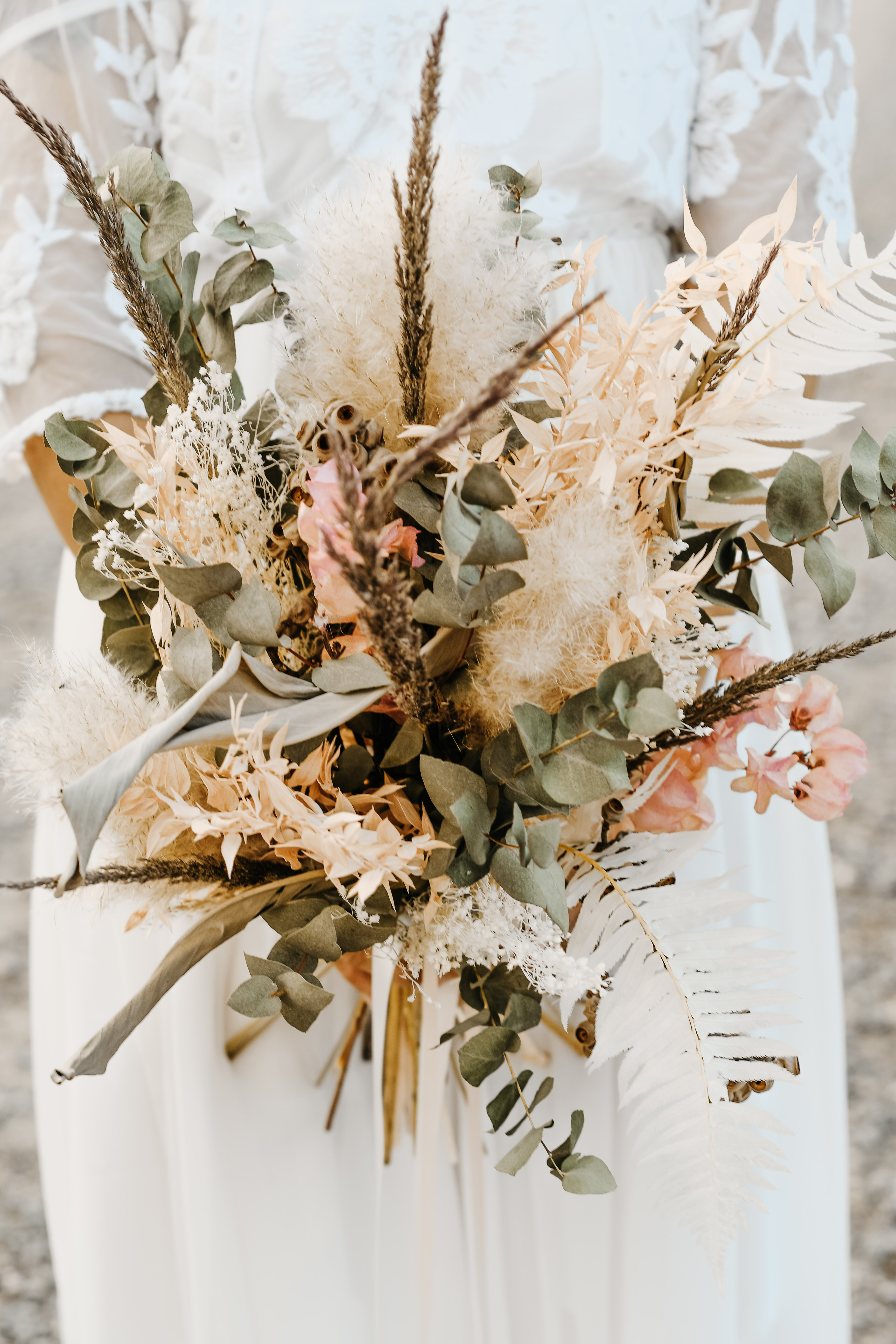 Trockenblumen Brautstrauss