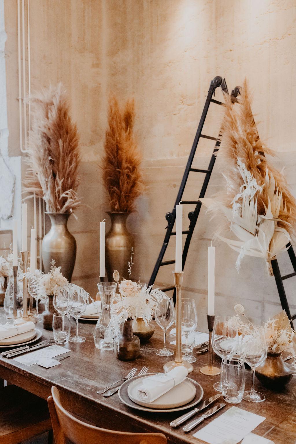 Tischdekoration und Raumdekoration
