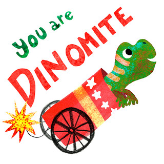 Greeting card - Dinomite