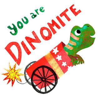Greeting card - Dinomite