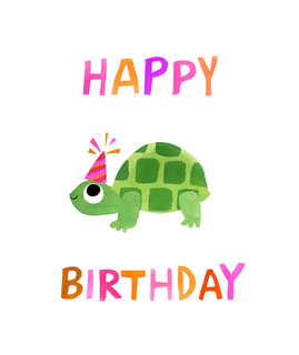 Happy birthday card - Tortoise