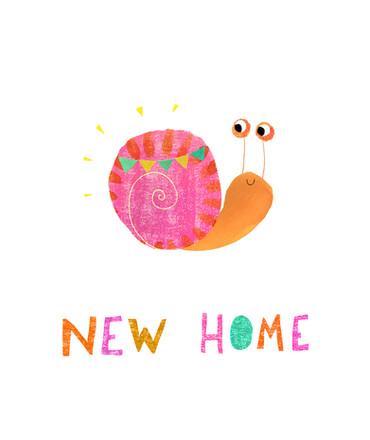 New home card - Snail