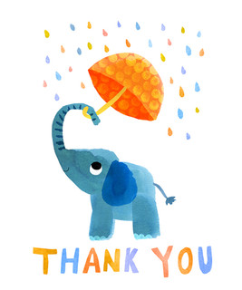 Thank you card - Elephant