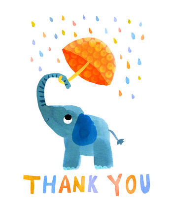 Thank you card - Elephant