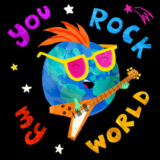 You Rock My Wolrd card