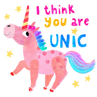 Greeting card - Unicorn