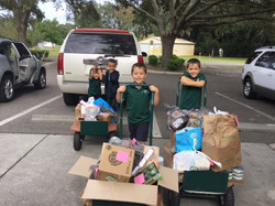 Can Food Drive Kindergarten Donation (Lyric, Brody, Brycen, Junior)