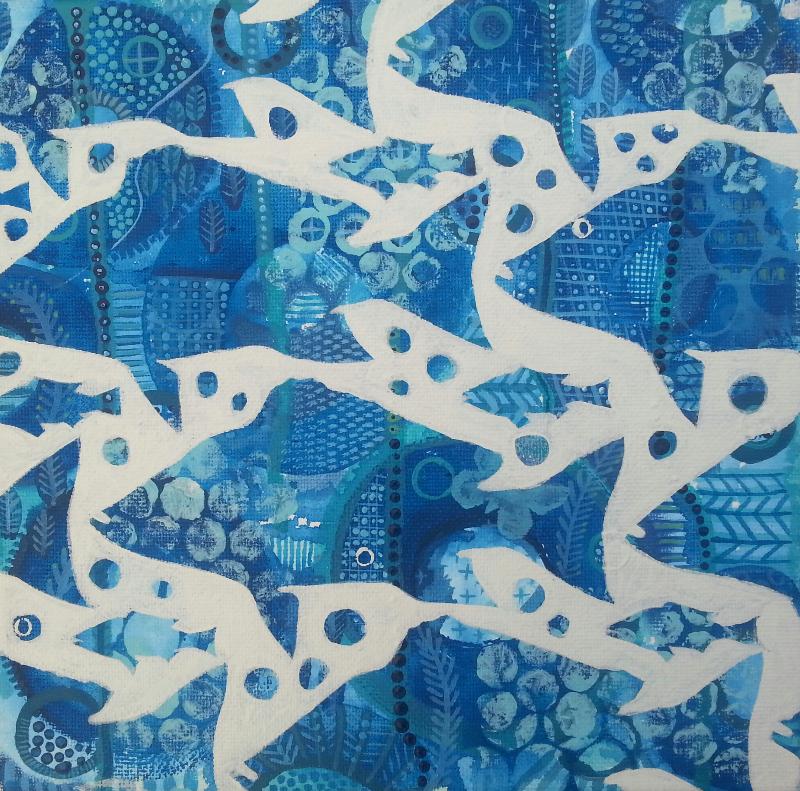 Deep Blue Sea $210 20cmx20cm+Postage