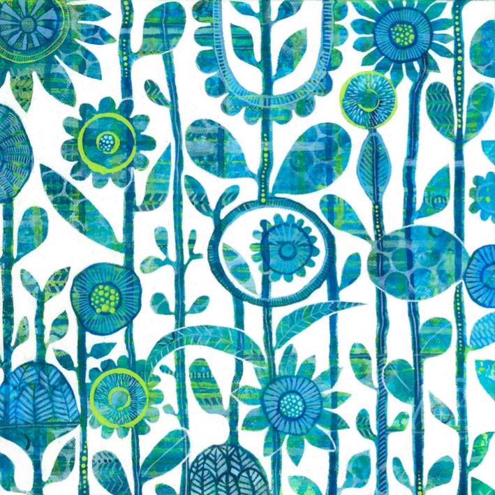 Garden Dialogue SOLD 30cm x 30cm
