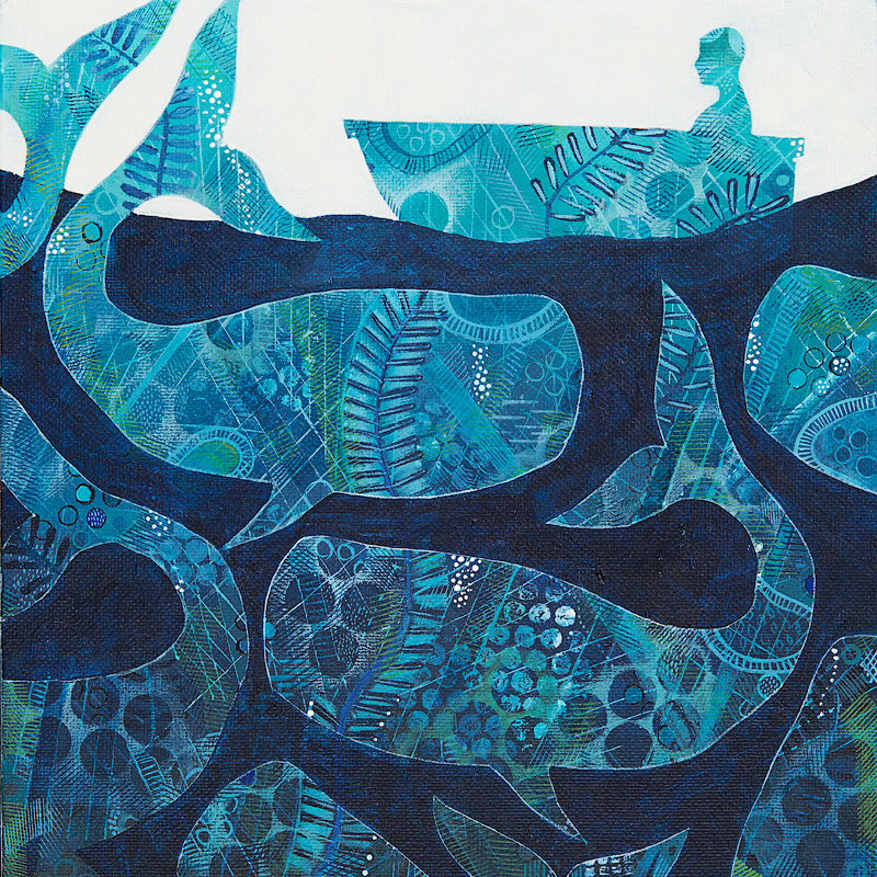 Whale Song SOLD 25cm x 25cm
