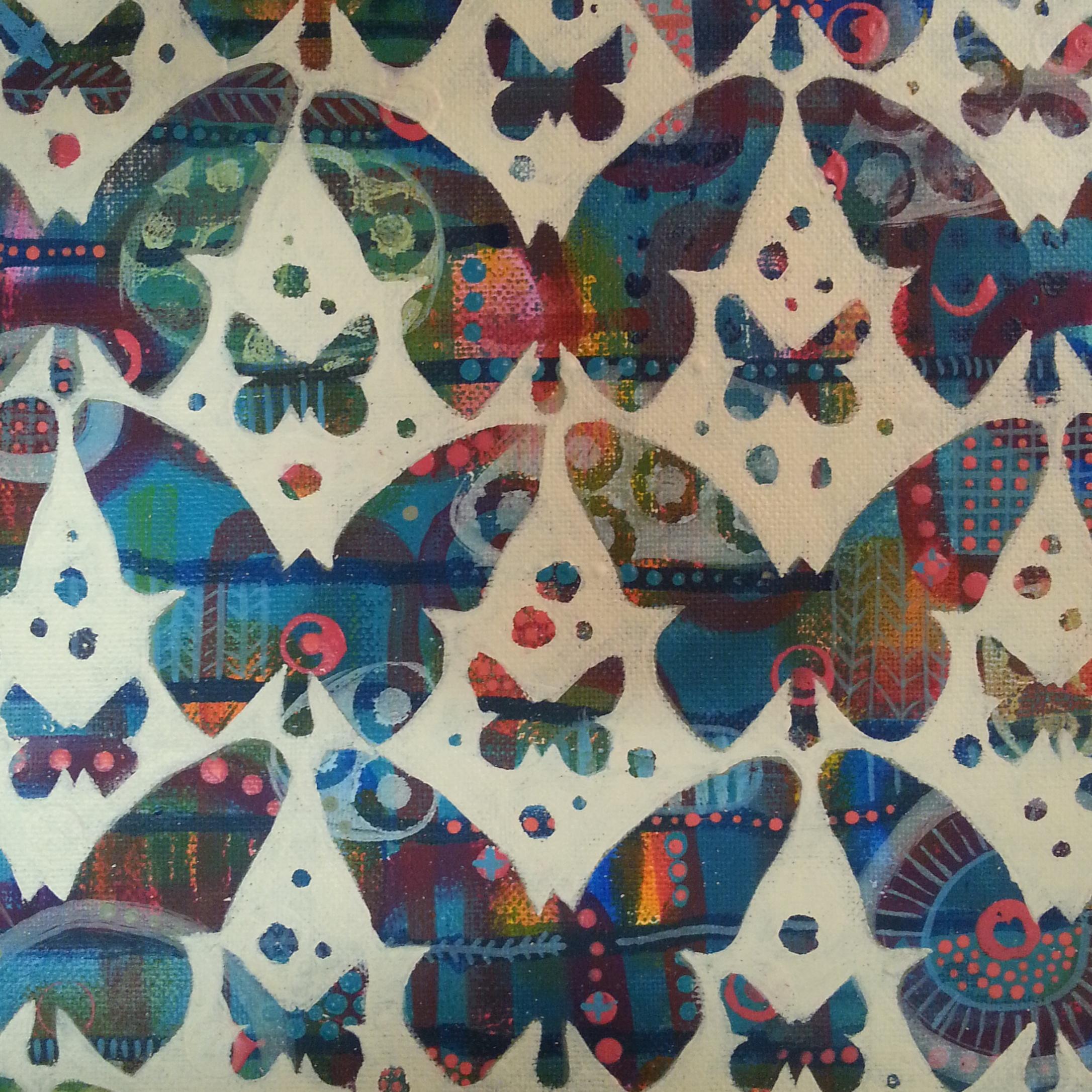 Butterflies SOLD 20cmx20cm + Postage