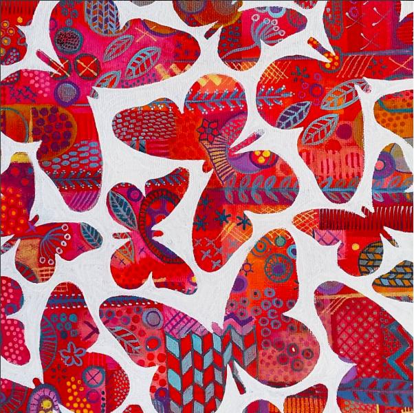 Kaleidoscope of Butterflies SOLD 20x20cm