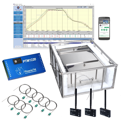 PhoenixTM 20Ch Water Quench RF Temperature Profile System