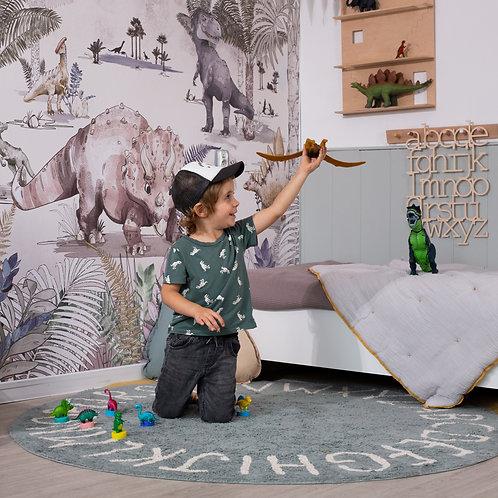 DINO WORLD - tapeta w dinozaury do pokoju chłopca