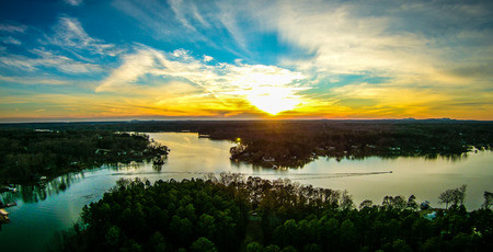 Sunset over Lake Wylie, SC