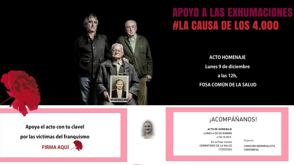 9D: Homenaje a las víctimas del franquismo en Córdoba