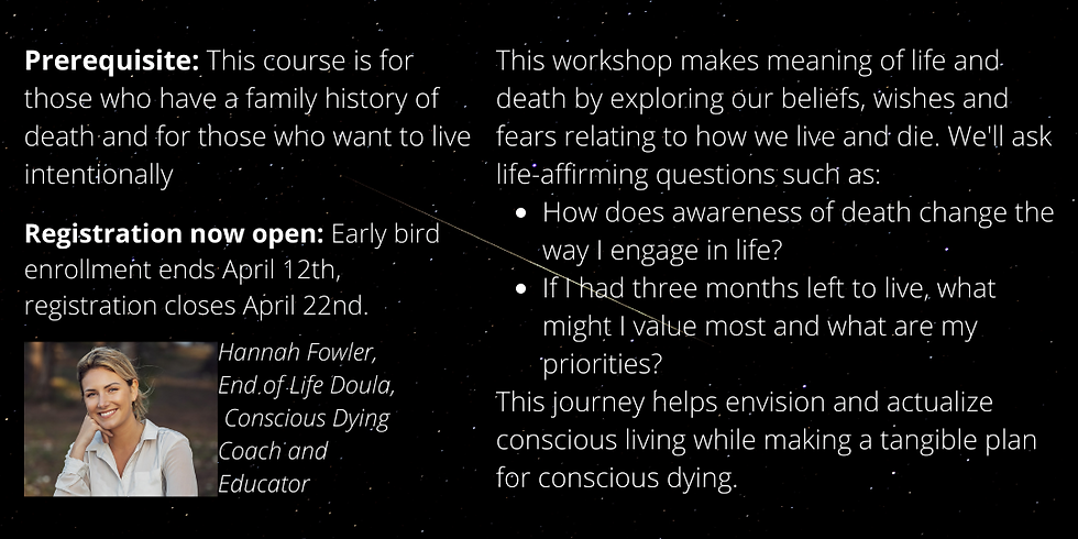 Live Like You're Dying Workshops