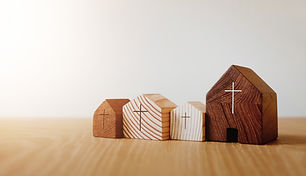 Home church online, wooden home church,